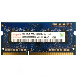 1GB RAM PC Portable SO-DIMM DDR3-1333 MHz Hynix PC3-10600S CL9 HMT112S6TFR8C-H9