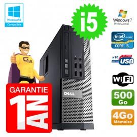 PC Dell 7010 SFF Intel I5-2400 RAM 4Go Disque 500Go DVD Wifi W7