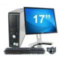 """Lot PC DELL Optiplex 780 SFF Core 2 Duo E7500 2.9Ghz 16Go 1To W7 pro + Ecran 17"""""""