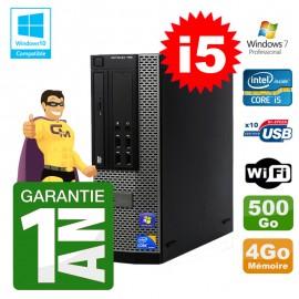 PC Dell 790 SFF Intel I5-2400 RAM 4Go Disque 500Go DVD Wifi W7