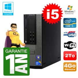 PC Dell 790 SFF Intel I5-2400 RAM 4Go Disque 2To DVD Wifi W7