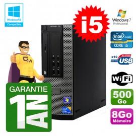 PC Dell 790 SFF Intel I5-2400 RAM 8Go Disque 500Go DVD Wifi W7