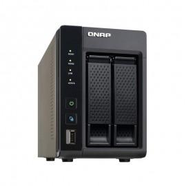 Serveur NAS Qnap TS-269L 2 baies USB 3.0 eSATA HDMI Intel Atom 1Go
