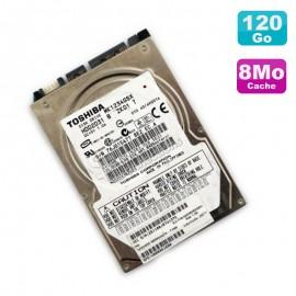 """Disque Dur 120Go SATA 2.5"""" Toshiba MK1234GSX HDD2D31 5400RPM Pc Portable 8Mo"""
