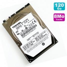 """Disque Dur 120Go SATA 2.5"""" Toshiba MK1237GSX HDD2D62 5400RPM Pc Portable 8Mo"""