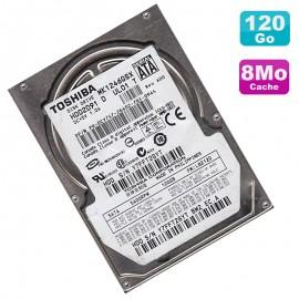 """Disque Dur 120Go SATA 2.5"""" Toshiba MK1246GSX HDD2D91 5400RPM Pc Portable 8Mo"""
