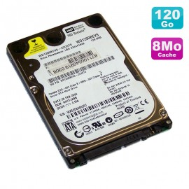 "Disque Dur 120Go SATA 2.5"" Western Digital Scorpio WD1200BEVS 22UST0 Pc Portable"