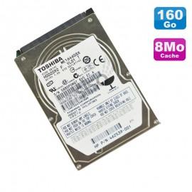 """Disque Dur 160Go SATA 2.5"""" Toshiba MK1646GSX HDD2D92 F VL01 T Pc Portable 8Mo"""