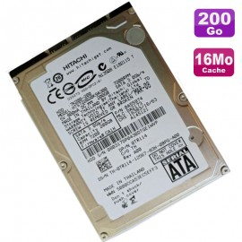 "Disque Dur 200Go SATA 2.5"" Hitachi Travelstar HTS722020K9A300 0TR114 Pc Portable"