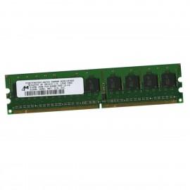 512Mo RAM Serveur Micron MT9HTF6472AY-667D4 DIMM PC2-5300E ECC 667Mhz 1Rx8 CL5