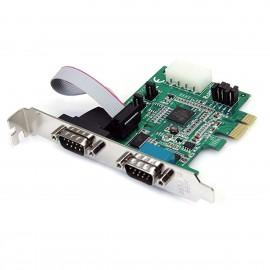 Carte Série StarTech PEX2S952 952E-R2 PCI-e Dual RS-232 DB-9M Molex IDE