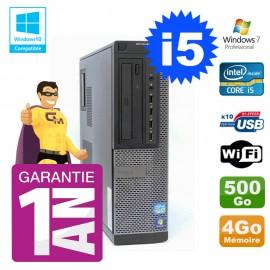 PC Dell 790 DT Intel I5-2400 4Go Disque 500Go Graveur Wifi W7