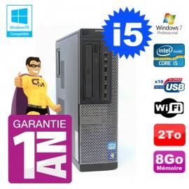PC Dell 790 DT Intel I5-2400 8Go Disque 2To Graveur Wifi W7