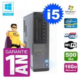 PC Dell 790 DT Intel I5-2400 16Go Disque 500Go Graveur Wifi W7
