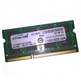 4Go RAM PC Portable CRUCIAL C151264BC1339.M16FMR SODIMM DDR3 PC3-10600S 1333MHz