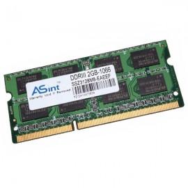 2Go RAM PC Portable ASint SSZ3128M8-EAEEF SODIMM DDR3 PC3-8500S 1066MHz 200-Pin