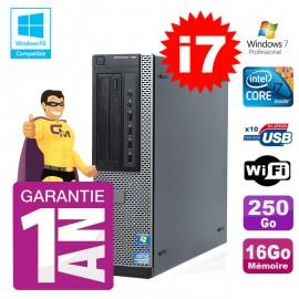 PC Dell 790 DT Intel I7-2600 16Go Disque 250Go Graveur Wifi W7