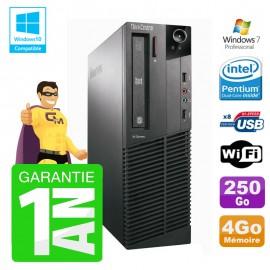 PC Lenovo M91p 7005 SFF Intel G630 4Go Disque 250Go Graveur Wifi W7