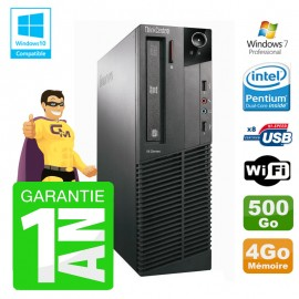 PC Lenovo M91p 7005 SFF Intel G630 4Go Disque 500Go Graveur Wifi W7