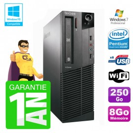PC Lenovo M91p 7005 SFF Intel G630 8Go Disque 250Go Graveur Wifi W7
