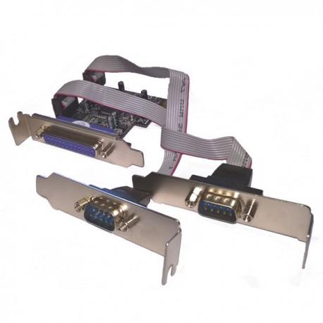 Carte PCI-Express 2 Ports RS232 1 Port Parallèle DELOCK PI4009922X2A Low Profile