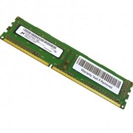 2Go Ram PC Bureau MICRON MT8KTF25664AZ-1G6M1 DDR3 PC3-12800U 1600Mhz CL9 1Rx8