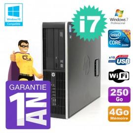 PC HP 8200 SFF Intel I7-2600 4Go Disque 250Go Graveur Wifi W7