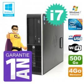 PC HP 8200 SFF Intel I7-2600 4Go Disque 500Go Graveur Wifi W7