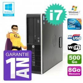 PC HP 8200 SFF Intel I7-2600 8Go Disque 500Go Graveur Wifi W7