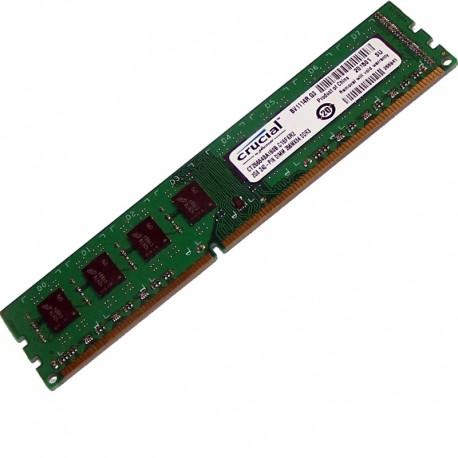 2Go RAM PC Crucial CT25664BA160B C16FKR2 240-PIN DDR3 PC3-12800U 2Rx8  1600Mhz - MonsieurCyberMan