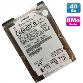 "Disque Dur 40Go IDE ATA 2.5"" Hitachi HTE541040G9AT00 0A27112 5400RPM Pc Portable"