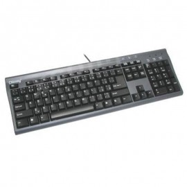 Clavier AZERTY Gris Chicony KB-9810 20034299 PS/2 105 Touches PC Keyboard