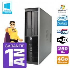 PC HP 8200 SFF Intel G630 4Go Disque 250Go Graveur Wifi W7