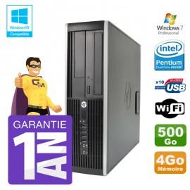 PC HP 8200 SFF Intel G630 4Go Disque 500Go Graveur Wifi W7