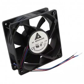Ventilateurs Delta DC Brushless AFB1212SHE DC 12V 1.6A Fan 3-Pin 120x120x38mm