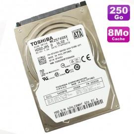 """Disque Dur 250Go SATA 2.5"""" Toshiba MK2576GSX 0F4VGH 5400RPM PC Portable 8Mo"""
