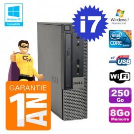 Mini PC Dell 790 Ultra USFF Core I7-2600 8Go Disque 250Go Wifi W7