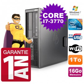 HP WorkStation Z220 SFF Core i7-3770 3.4Ghz 16Go Disque 1To Graveur W7 Pro Wifi