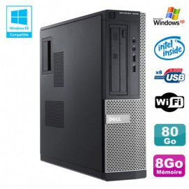 PC DELL Optiplex 3010 DT Intel G640 2.8Ghz 8Go 80Go DVD WIFI HDMI Win XP