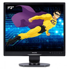 """Ecran PC Pro 19"""" PHILIPS 19S1SB MNS1190T LCD TFT VGA DVI-D VESA 5:4 1280x1024"""