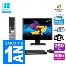 """Mini PC Dell 7010 Ultra USFF G640 RAM 8Go Disque 250Go Wifi W7 + Ecran 27"""""""
