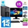 """PC Tour Fujitsu Esprimo P400 I5-2400 RAM 8Go Disque 500Go Wifi W7 Ecran 22"""""""