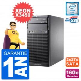 Serveur HP Proliant ML110 G6 Intel X3450 RAM 16Go 2x 2To
