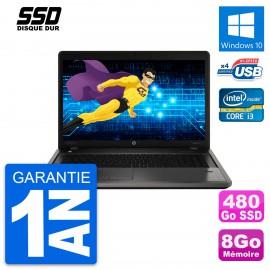 PC Portable 13.3'' HP ProBook 4340s Intel Core 2 Duo P8600 RAM 8Go SSD 480Go W10
