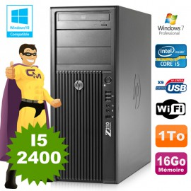 HP WorkStation Z210 Tour Core I5-2400 3.1Ghz 16Go Disque 1To Graveur W7 Wifi