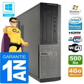 PC DELL 3010 DT Intel G2020 Ram 4Go Disque 500 Go Wifi W7