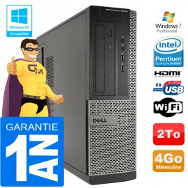 PC DELL 3010 DT Intel G2020 Ram 4Go Disque 2 To Wifi W7