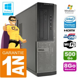 PC DELL 3010 DT Intel G2020 Ram 8Go Disque 500 Go Wifi W7