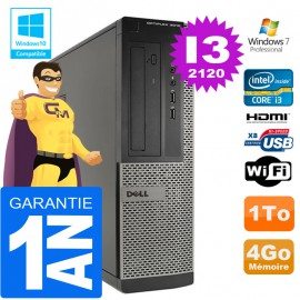 PC DELL 3010 DT Core I3-2120 Ram 4Go Disque 1 To Wifi W7