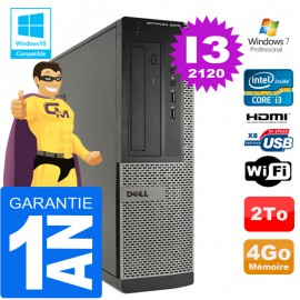 PC DELL 3010 DT Core I3-2120 Ram 4Go Disque 2 To Wifi W7